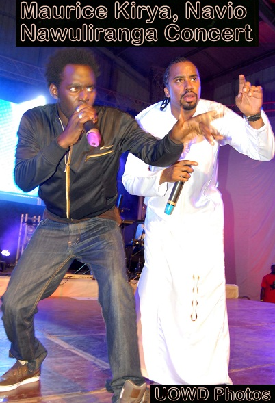 Maurice Kirya and Navio last Saturday