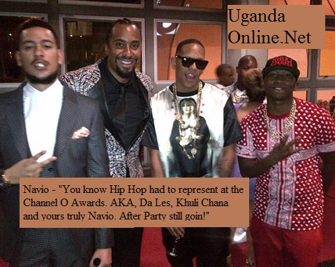 Navio (2nd left) at the Channel O after party in South Africa