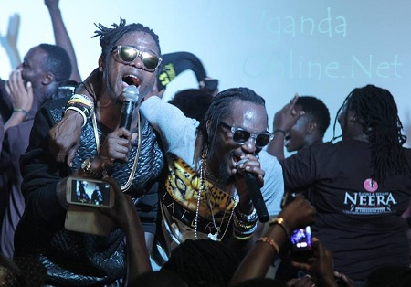 Radio and Weasel at their welcome party at Venom
