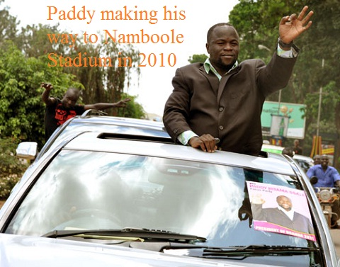 Paddy Bitama in the 2010 Presidential elections, though he was told he did not have the required papers