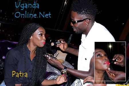 Bobi Wine was Patra's make-up stylist before the shoot
