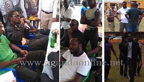 Bobi Wine and Bebe Cool camps at Kyadondo Rugby Grounds