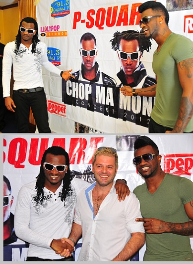 Peter, Mario and Paul Okoye