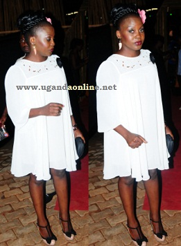 Iryn Namubiru after arriving for the awards