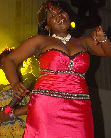 Samalie Matovu at the 2010 PAM Awards in Lugogo