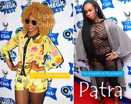 Sheebah and Patra at the Club Mega Fest