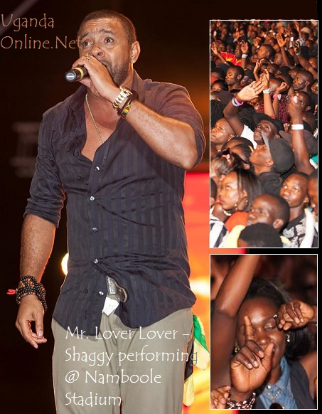 Shaggy performing at Namboole Stadium