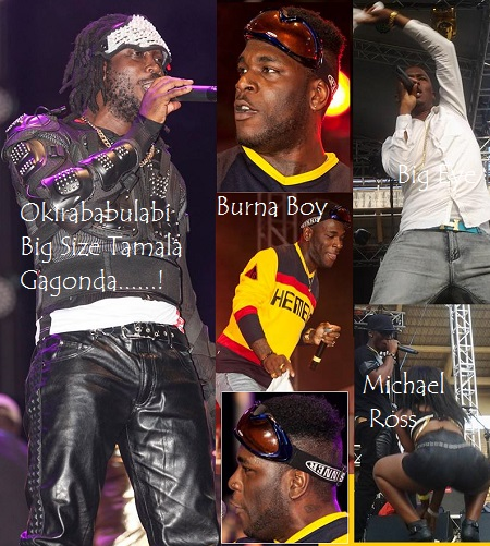 Bebe Cool, Burna Boy, Big Eye and Michael Ross performing at Namboole