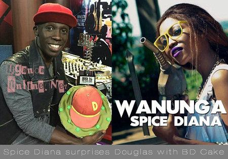 Douglas Lwanga showing off his birthday cake from Spice Diana