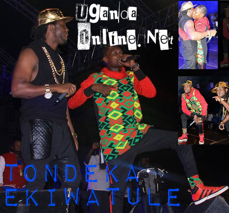 Bebe Cool and Chameleone performing at Kiwatule Recreation Grounds