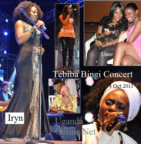 Iryn at the Tebiba Bingi Concert at Hotel Africana - 4 Oct 2013