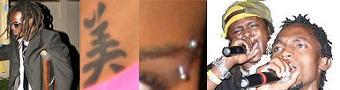 Buchaman's Crutch, Helen's under belly tatto, Juliana's eye pin and the Moze Radio's Dreads