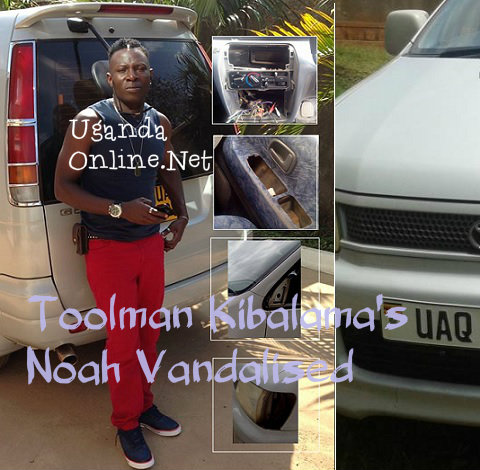 Toolman next to his vehicle that was vandalised