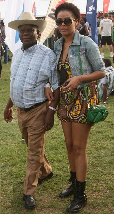 Tycoon Wavamunno and Daughter