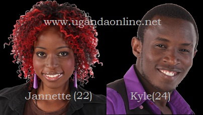 Uganda's housemates in the Big Brother Stargame Jannette Lutaaya and Duncan Kyle