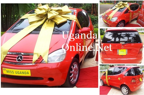 The prize car for the Miss Uganda 2013 winner at Kampala Serena Hotel