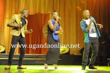 Brian Luzinda who was evicted, Sharon and Allanroy on day one of the Tusker Project Fame 5 kickoff