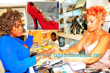 Zari attending to a customer at Zari Jewels