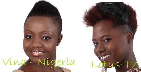 Vina from Nigeria and Lotus from Tanzania