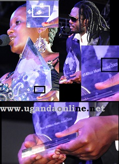 Angela Kalule and Bebe Cool were among the artistes who got 2005 PAM Accolades