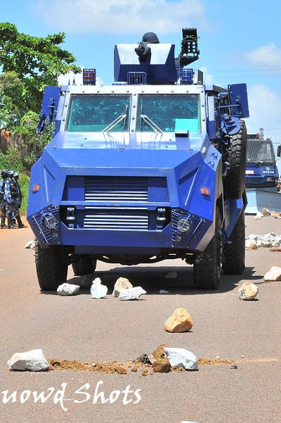 Tear Gas Vehicle in Kampala on 11-Apr-2011