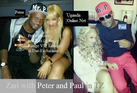 Zari having fun with the P-Square duo