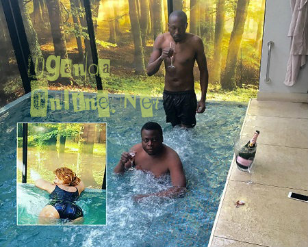 Ivan and King Lawrence enjoying the jacuzzi with Zari (inset)