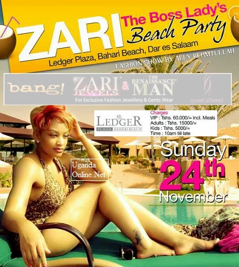 Zari Boss Lady's Beach Party in Tanzania