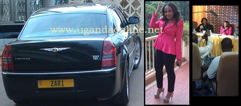 Zari at the Golf Course Hotel in Kampala during the launch of the Zari Boss Lady reality show