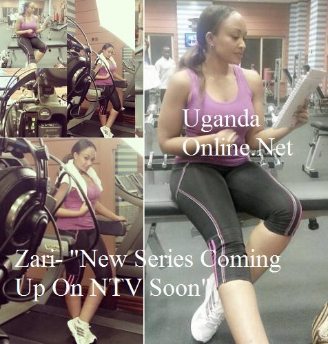 Zari during the filming of her reality series that will soon air on NTV