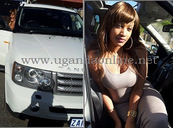 Zari Hassan in her latest Range Rover Sport that replaced the Hummer as her Introduction present