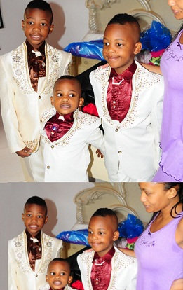Zari's Kids all ready for their Dad