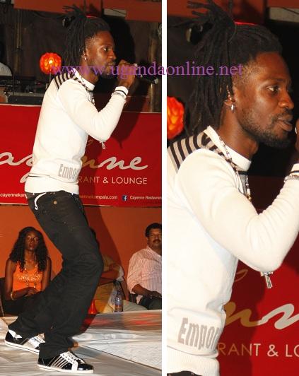 Bobi Wine at Cayenee Bar and Lounge recently