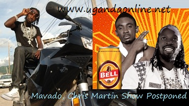 Mavado and Chris Martin show postponed to next year