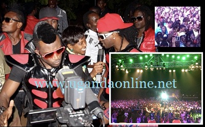 P-Square at Lugogo Cricket Oval in Kampala
