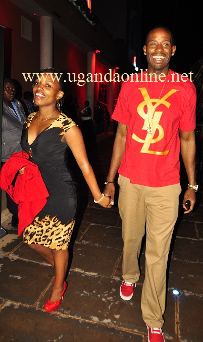 Isaac Lugudde and his latest catch Cynthia