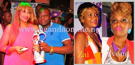 Zari and Ivan pose with the Award of the Best Dressed Couple as Zaitun and Yvone look on